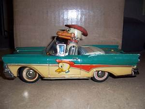 Vintage Friction Duck In A Car Toy