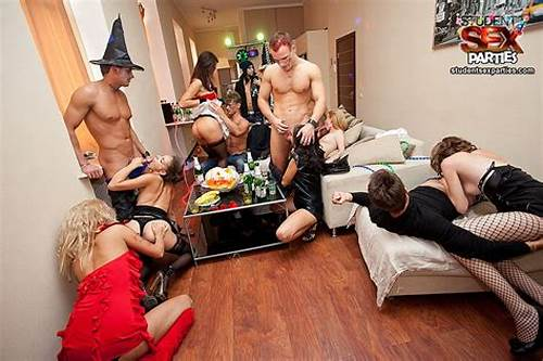 Crazy College Apartment Mff #Hot #Halloween #Student #Sex #Party