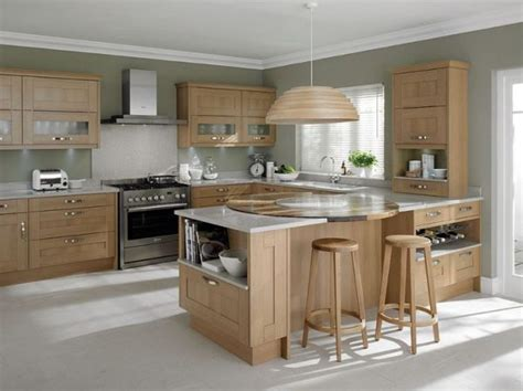 creative light gray kitchen walls toward wooden modular