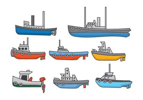 Tugboat Vector Question by Tugboat Set Free Vector Stock Graphics