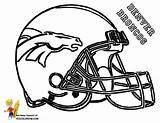 Coloring Broncos Denver Pages Printable Popular sketch template