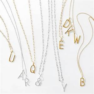 sarah chloe amelia initial necklace mark and graham With chloe letter necklace