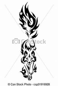 Tatouage Loup Graphique : tatouage loup tatouage isol illustration arri re ~ Mglfilm.com Idées de Décoration