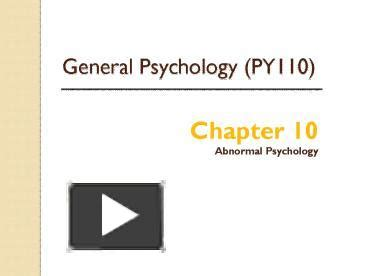 griggs chapter  abnormal psychology powerpoint