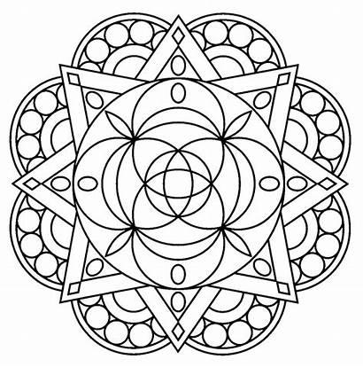 Coloring Mandala Pages Printable Mandala1 Adults Sheets