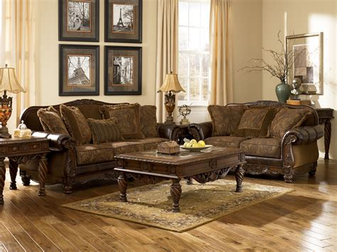 ashley furniture fresco  durablend antique living