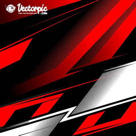 Racing Stripe Streak Red And White Line Abstract