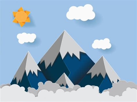 mountains background design vector