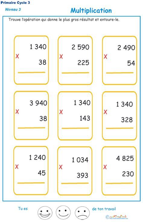exercices tables de multiplication cm2 a imprimer multiplications cm2 exercices de multiplication t 234 te 224 modeler