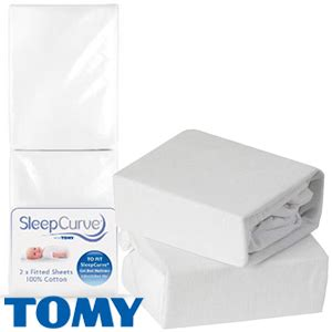 buy sleepcurve fitted cot sheets pack of 2 at home bargains