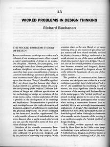Wicked Problems In Design Thinking Richard Buchanan Wicked Problems In Design Thinking