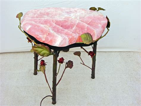 rose quartz table l rqst002