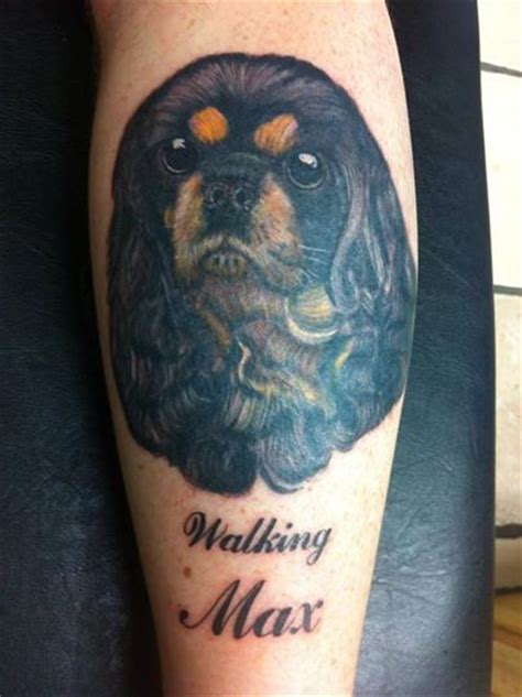 coolest cavalier king charles spaniel tattoo designs