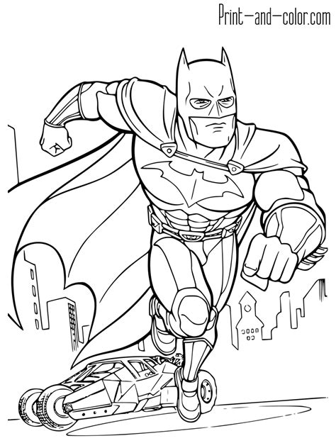 Batman Coloring Pages Batman Coloring Pages To Print Free Coloring Sheets