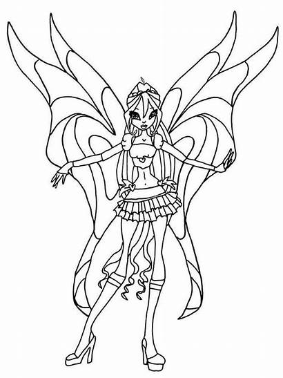 Winx Bloom Coloring Pages Club Recommended Printable