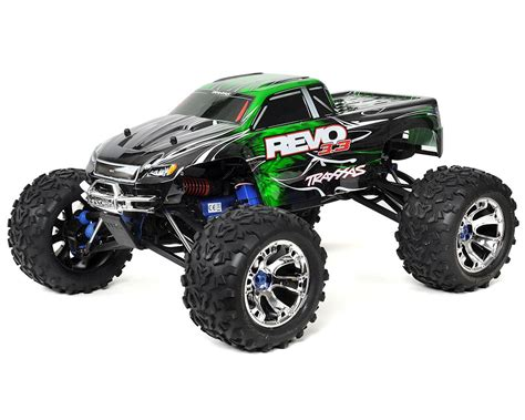 monster trucks nitro 2 revo 3 3 4wd rtr nitro monster truck w tqi green by