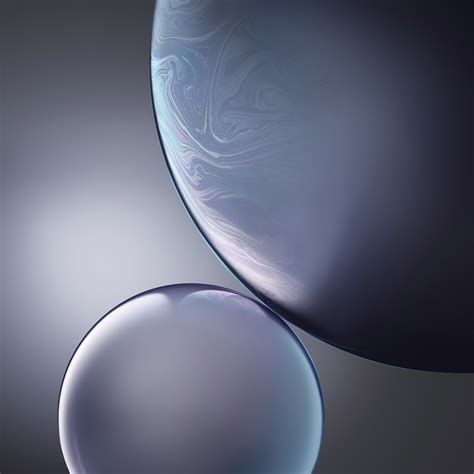 bg gray apple iphone xs max official art bubble wallpaper