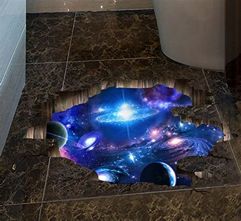 blue purple galaxy space wall decal removable sticker art
