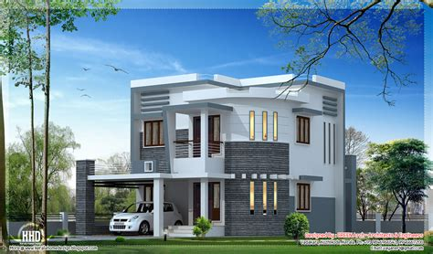 House Front Elevation Designs For Double Floor