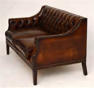 Antique Leather Loveseat by Antique Buttoned Leather Sofa Antiques Atlas