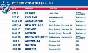 U.S. Soccer Announces 2015 Schedule for U.S. Women's ...