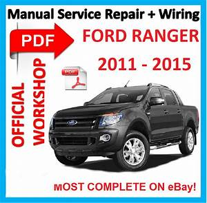 Official Workshop Manual Service Repair For Ford Ranger