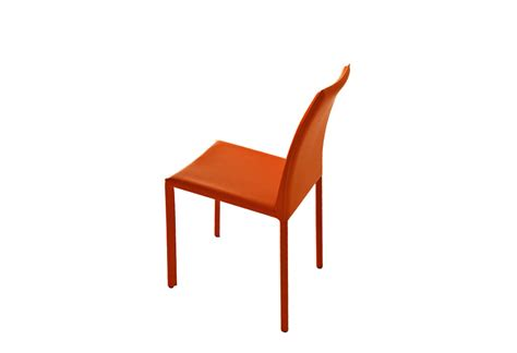 orange dining chairs leather dining chairs design ideas