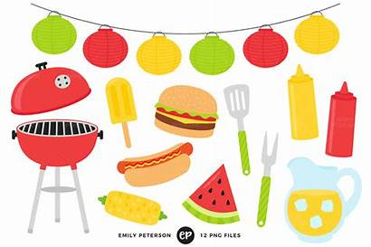 Bbq Summer Clipart Clip Barbecue Cook Digital