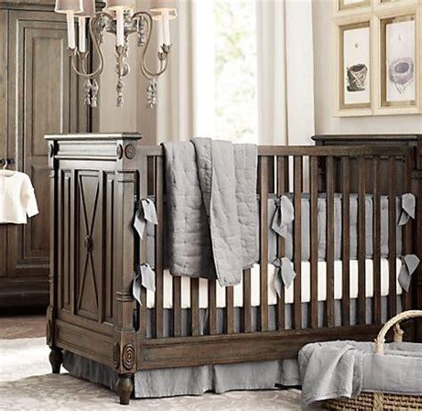 washed organic linen three piece crib bedding set