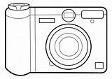 Camera Coloring Pages Simple Clip Edupics Graphic Crafts sketch template