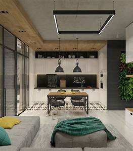 Brilliant, Way, To, Arrange, A, Small, Apartment, Design, Using, Wooden, And, Plant, Decoration, Looks, So