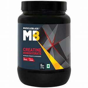Muscleblaze Monohyrate Creatine  Improves Performance 0 55 Lb   250 G  50 Servings  Unflavoured