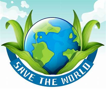 Earth Save Theme Vector Leaves Global Warming