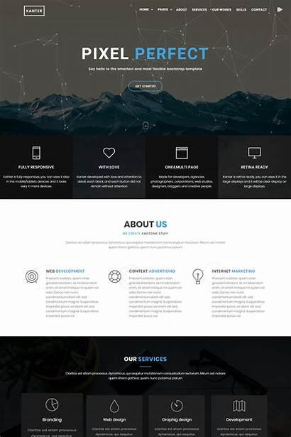 Template Website Creative Minimalistic Templates Responsive Kanter