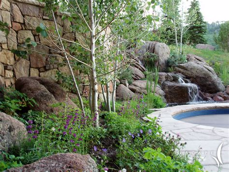 alpine mountain tranquility garden escape garden design