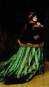 camille ou la femme a la robe verte claude monet 1866 With robe verte femme