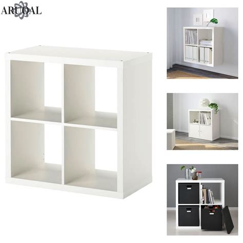 ikea kallax regal einsätze ikea kallax white 4 shelving unit display storage bookcase expedit 77 x 77 ebay