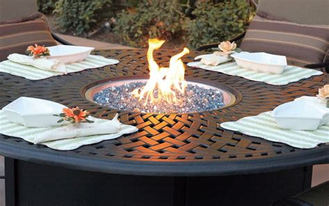small fire pit table fire pit in the center of the outdoor table apartment