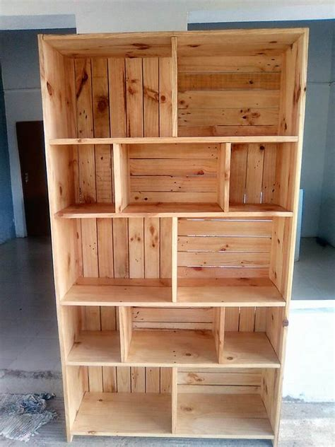 pallet wood furniture reclaimed pallets wooden made shelving cabinet wood Reclaimed