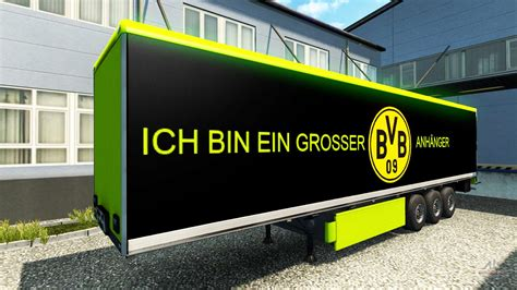 Bvb borussia dortmund netradio highlights bundesliga leverkusen. BVB skin für den trailer für Euro Truck Simulator 2
