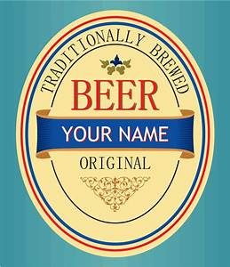 set of vivid beer label vector free vector in encapsulated With free printable beer labels