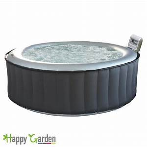 Spa 4 Places : spa rond gonflable silver cloud 4 places anthracite ~ Nature-et-papiers.com Idées de Décoration