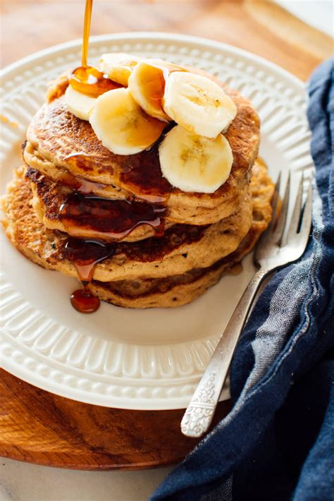 whole wheat banana pancakes recipe cookie and kate