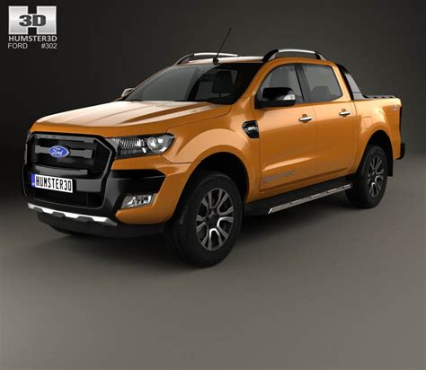 ford ranger cab wildtrak 2016 3d model hum3d