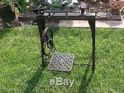 antique goodells improved foot powered treadle lathe
