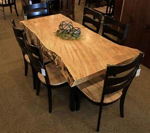 Wormy Maple Live Edge Slab Table Solid Hardwood Furniture