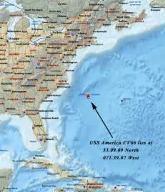 USS America Sinking Location