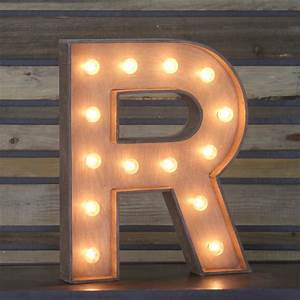"Edison Marquee Letter - ""R"" Town & Country Event Rentals"