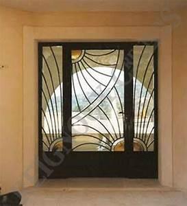 porte d39entree exterieur en fer forge pinteres With porte d entrée alu avec mosaique salle de bain vert