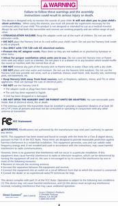 Graco Children S Pd114716 Nursery Unit User Manual Fcc Part 15